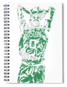 Jayson Tatum Boston Celtics Pixel Art 12 Spiral Notebook