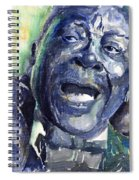 Jazz B.b.king 04 Blue Spiral Notebook