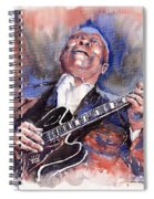 Jazz B B King 05 Red A Spiral Notebook