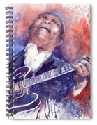 Jazz B B King 05 Red Spiral Notebook