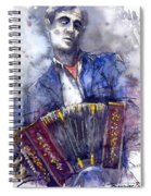Jazz Concertina Player Spiral Notebook