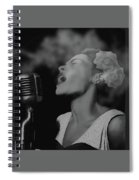 Jazz Great Billie Holiday Spiral Notebook