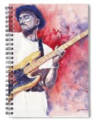 Jazz Guitarist Marcus Miller Red Spiral Notebook