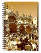 Jazz In Piazza San Marco Spiral Notebook