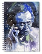 Jazz Miles Davis 11 Blue Spiral Notebook