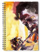 Jazz Miles Davis 6 Spiral Notebook