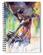 Jazz Miles Davis 9 Blue Spiral Notebook