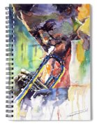Jazz Miles Davis 9 Blue Spiral Notebook