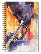 Jazz Miles Davis 9 Red Spiral Notebook