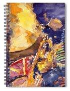Jazz Miles Davis Electric 2 Spiral Notebook