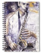 Jazz Muza Saxophon Spiral Notebook