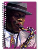 Jazz Saxophonist Spiral Notebook