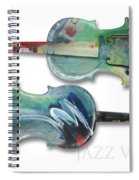 Jazz Violin - Poster Spiral Notebook