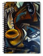 Black Cat Jazzz Spiral Notebook