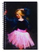 Jean Jacket Ballerina Spiral Notebook