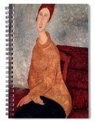 Jeanne Hebuterne In A Yellow Jumper Spiral Notebook