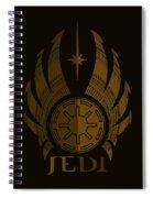 Jedi Symbol - Star Wars Art, Brown Spiral Notebook