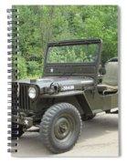 Jeep At Hydes Creek Spiral Notebook