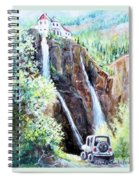 Jeeping At Bridal Falls  Spiral Notebook