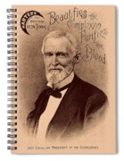 Jefferson Davis Vintage Advertisement Spiral Notebook