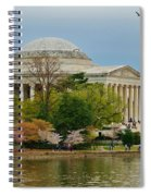 Jefferson Memorial, Springtime In Dc Is When Things Bloom, Like The Japanese Cherry Trees Spiral Notebook