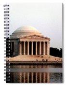 Jefferson Monument After Sunset Spiral Notebook