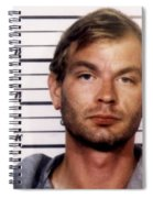 Jeffrey Dahmer Mug Shot 1991 Square  Spiral Notebook