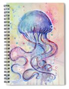 Jelly Fish Watercolor Spiral Notebook