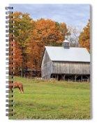 Jericho Hill Vermont Horse Barn Fall Foliage Spiral Notebook