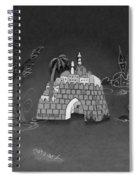 Jerusalem Israel In Monochrome Spiral Notebook