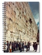 Jerusalem  Wailing Wall - To License For Professional Use Visit Granger.com Spiral Notebook