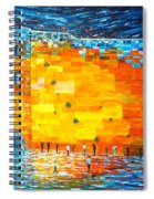Jerusalem Wailing Wall Original Acrylic Palette Knife Painting Spiral Notebook