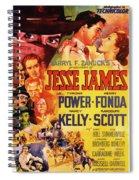 Jesse James 1939 Spiral Notebook