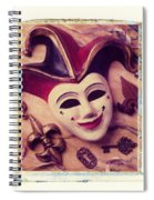 Jester Mask Spiral Notebook