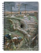 Jesus Alone On The Cross Spiral Notebook