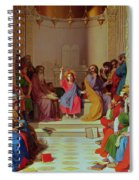 Jesus Among The Doctors Spiral Notebook