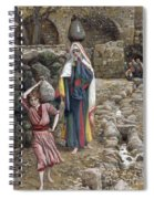 Jesus And His Mother At The Fountain Spiral Notebook