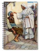 Jesus And The Blind Man Spiral Notebook