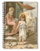 Jesus As A Boy Playing With Doves Spiral Notebook