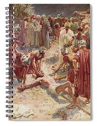 Jesus Being Crucified Spiral Notebook