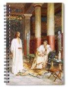 Jesus Being Interviewed Privately Spiral Notebook