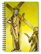 Jesus Carries The Cross Spiral Notebook