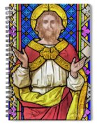 Jesus Christ Stained Glass Spiral Notebook