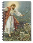 Jesus Christ The Tender Shepherd Spiral Notebook