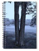 Jesus Christ Tree Cyan Spiral Notebook