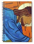 Jesus Falls Under The Cross Spiral Notebook