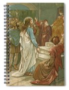 Jesus In Front Of Pilate Spiral Notebook