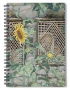 Jesus Looking Through A Lattice With Sunflowers Spiral Notebook