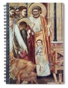 Jesus & Moneychanger Spiral Notebook