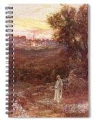 Jesus On The Mount Of Olives Spiral Notebook